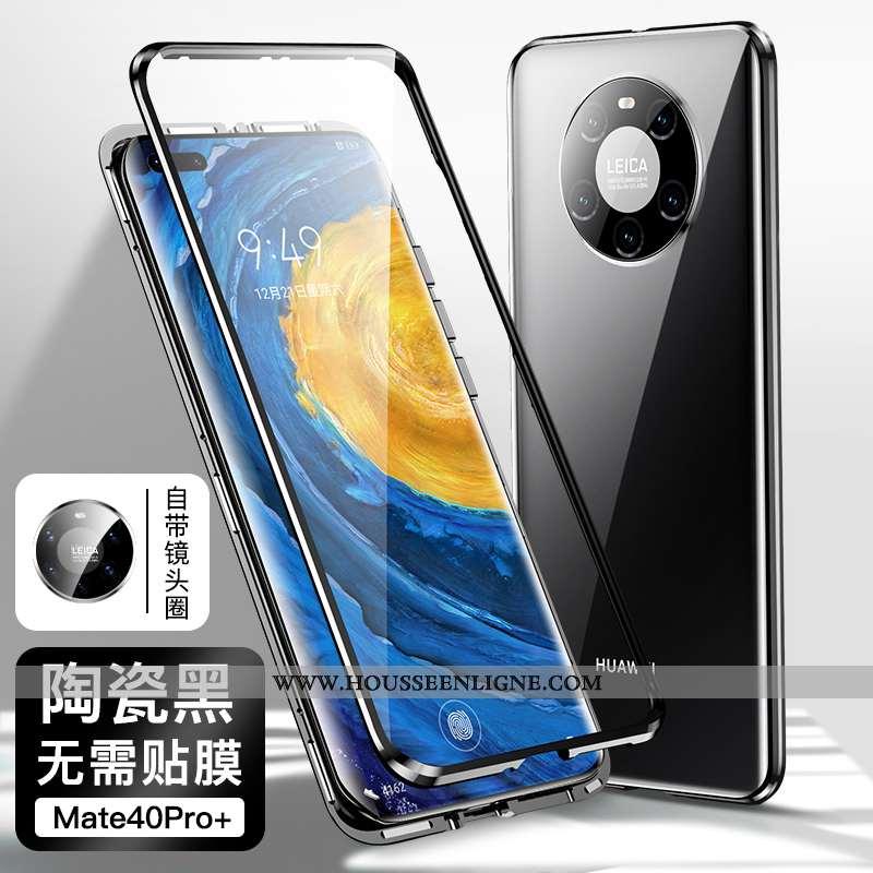 Étui Huawei Mate 40 Pro+ Personnalité Créatif Silicone Tout Compris Coque Noir