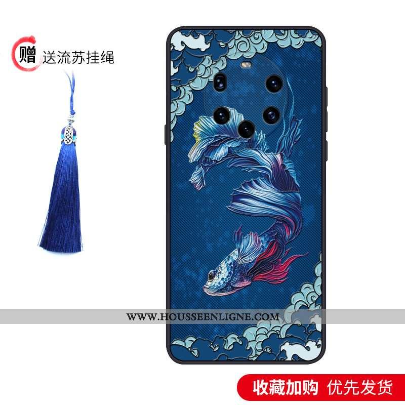 Étui Huawei Mate 40 Pro+ Silicone Protection Téléphone Portable Tendance Incassable Légère Délavé En