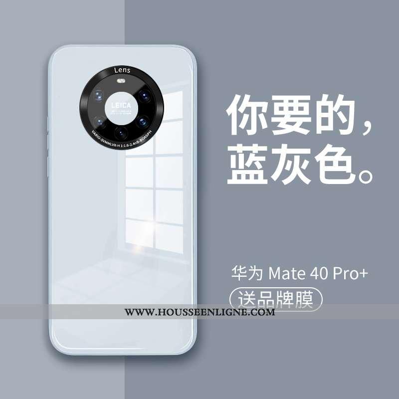 Étui Huawei Mate 40 Pro+ Verre Tendance Téléphone Portable Nouveau Coque Bleu Silicone