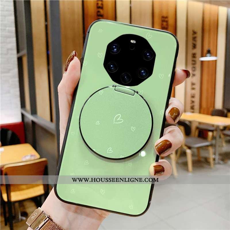Étui Huawei Mate 40 Rs Mode Protection Coque Verre Amour Petit Verte
