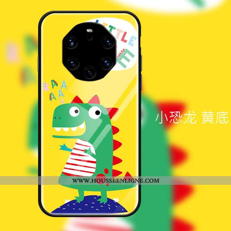 Étui Huawei Mate 40 Rs Protection Verre Petit Difficile Dessin Animé Tendance Coque Jaune