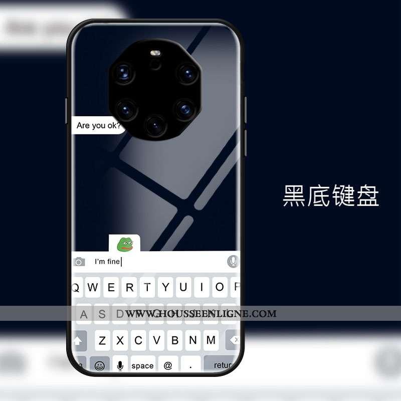 Étui Huawei Mate 40 Rs Tendance Mode Simple Téléphone Portable Tout Compris Verre Noir