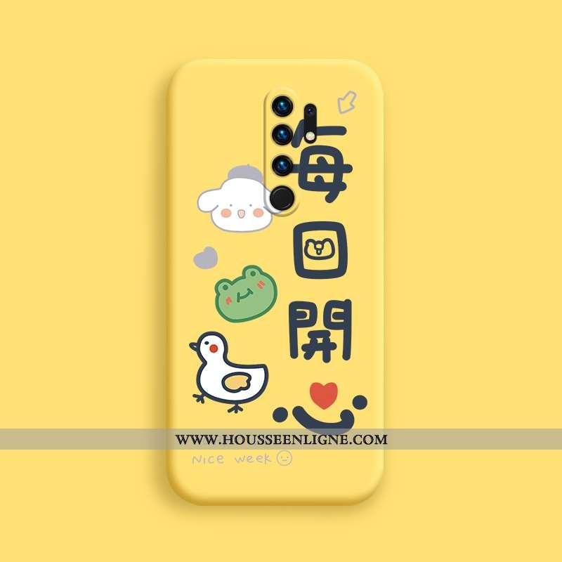 Étui Xiaomi Redmi 9 Ultra Tendance Fluide Doux Silicone Jaune Téléphone Portable Légère
