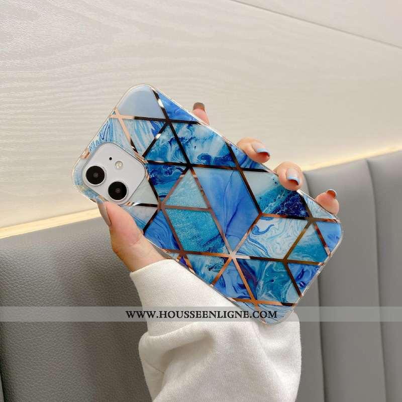 Étui iPhone 12 Mini Fluide Doux Silicone Nouveau Tout Compris Modèle Fleurie Coque Téléphone Portabl