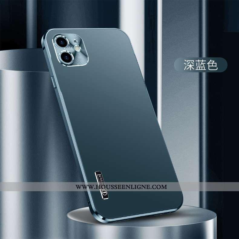 Étui iPhone 12 Mini Légère Protection Tout Compris Métal Nouveau Bleu Marin Incassable Bleu Foncé