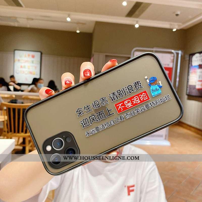 Étui iPhone 12 Pro Créatif Tendance Délavé En Daim Tout Compris Personnalité Noir