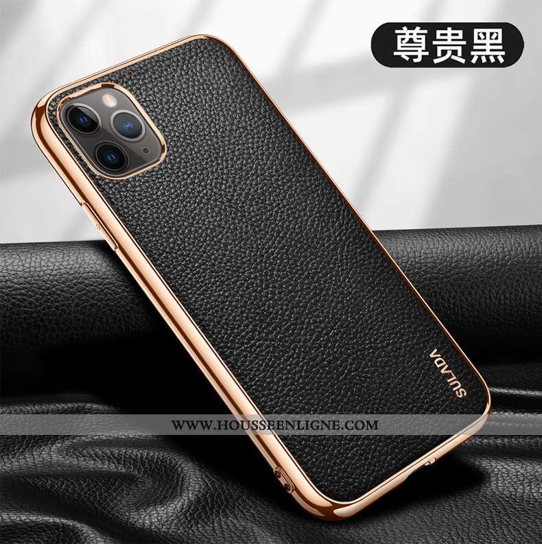 Étui iPhone 12 Pro Ultra Légère Cuir Véritable Tout Compris Luxe Noir Téléphone Portable