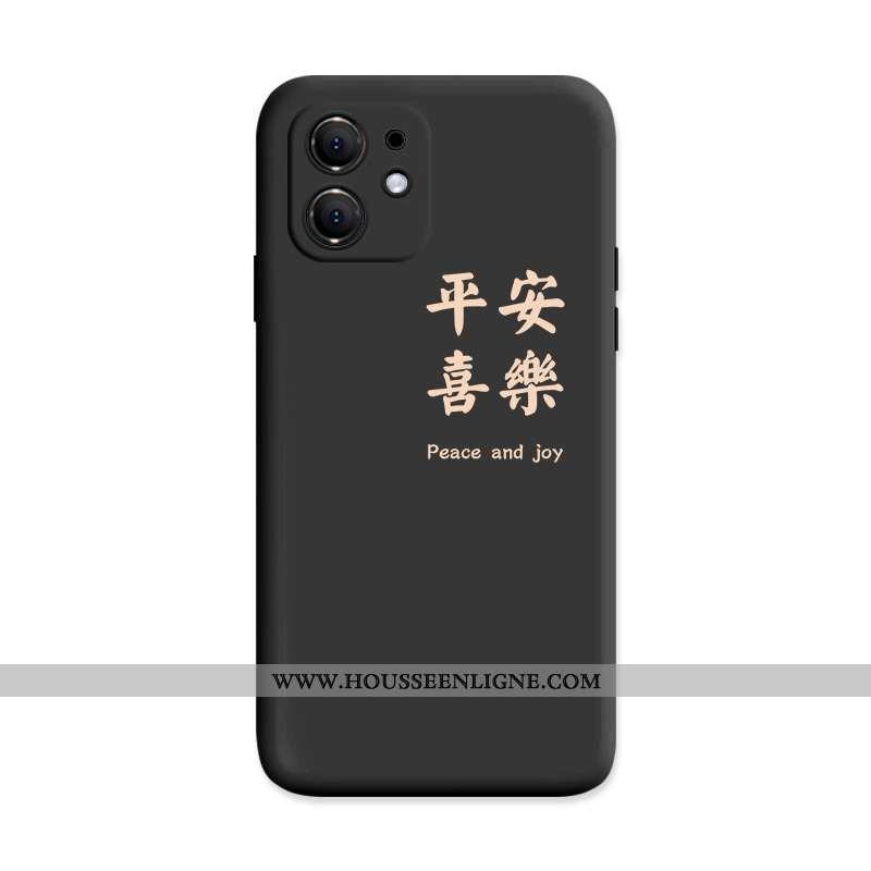 Étui iPhone 12 Silicone Créatif Noir Rouge Téléphone Portable Tout Compris Coque