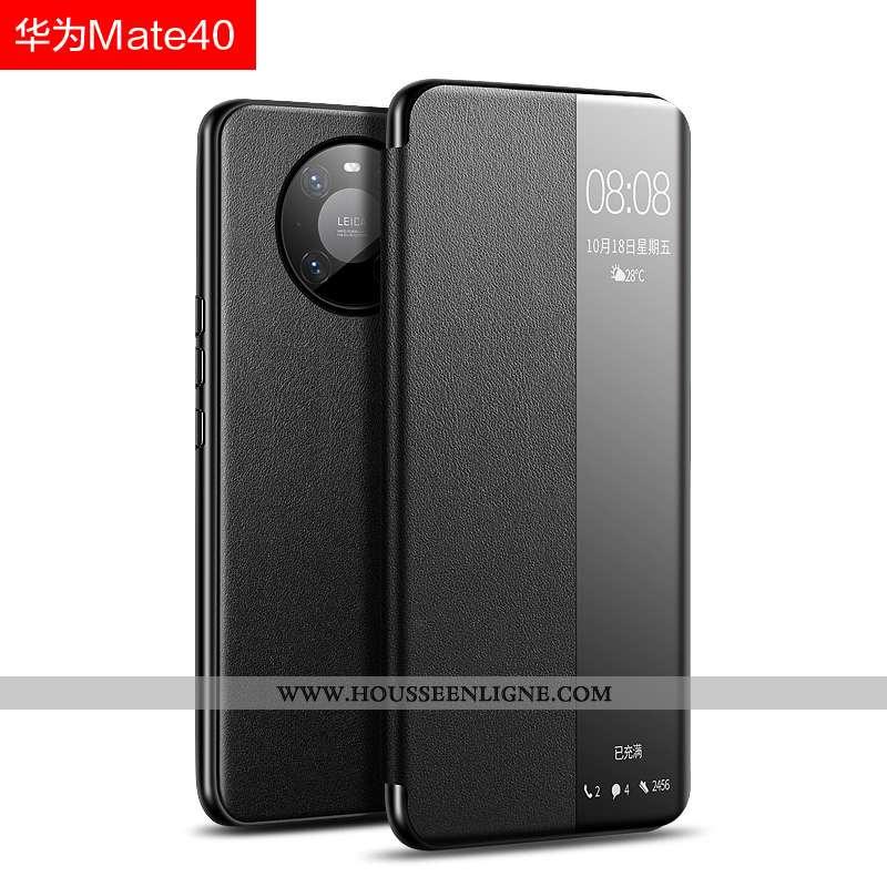 Coque Huawei Mate 40 Légère Cuir Noir Ultra Tout Compris Étui Protection