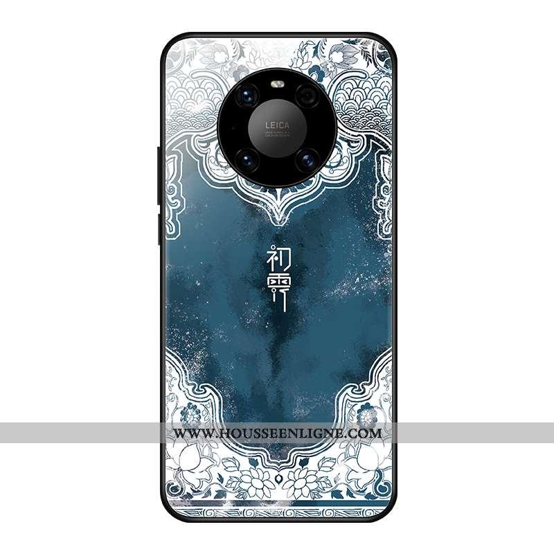 Coque Huawei Mate 40 Personnalité Créatif Vent Tendance Bleu Nouveau