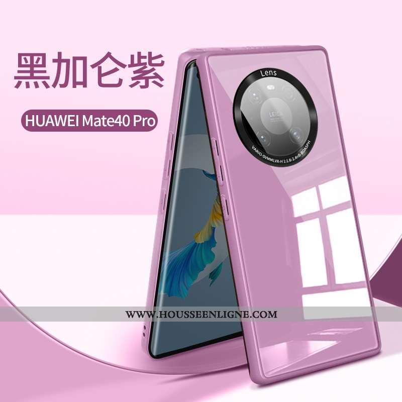 Coque Huawei Mate 40 Pro Légère Silicone Nouveau Ultra Protection Verre Tout Compris Violet