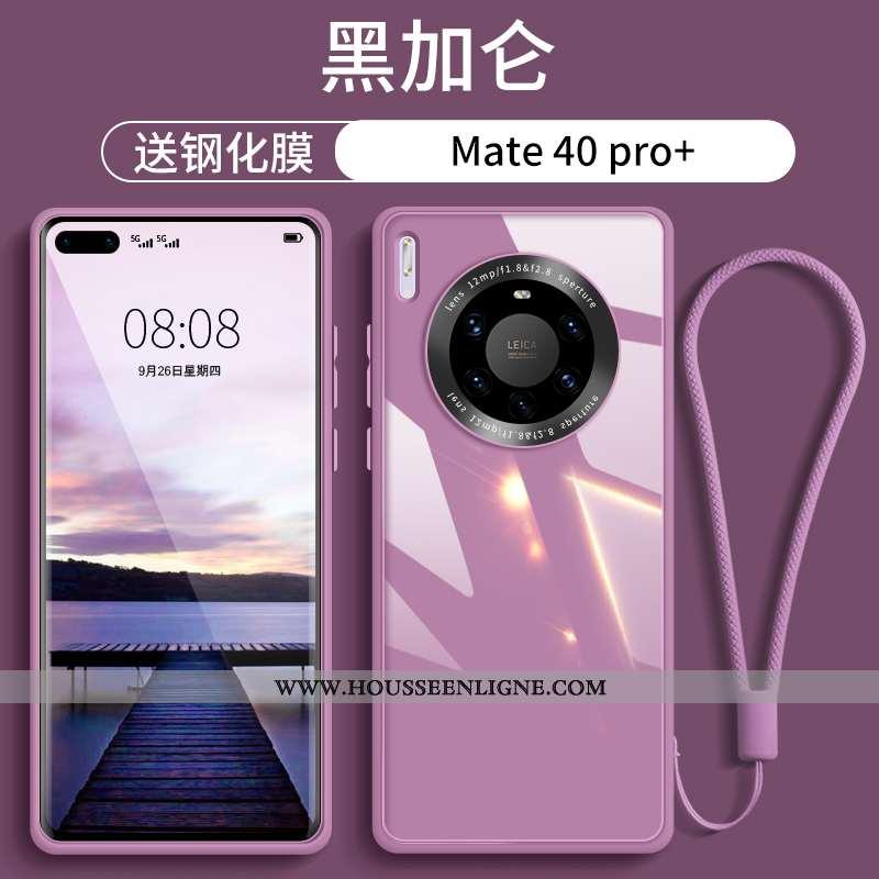 Coque Huawei Mate 40 Pro+ Légère Verre Nouveau Ultra Luxe Téléphone Portable Rose