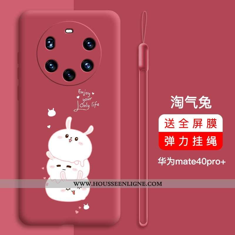 Coque Huawei Mate 40 Pro+ Protection Personnalité Net Rouge Nouveau Étui Incassable Silicone