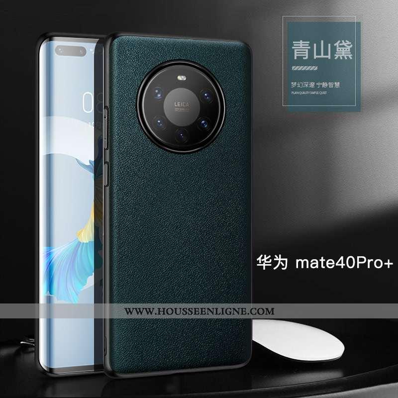 Coque Huawei Mate 40 Pro+ Protection Personnalité Vert Bovins Simple Étui Verte