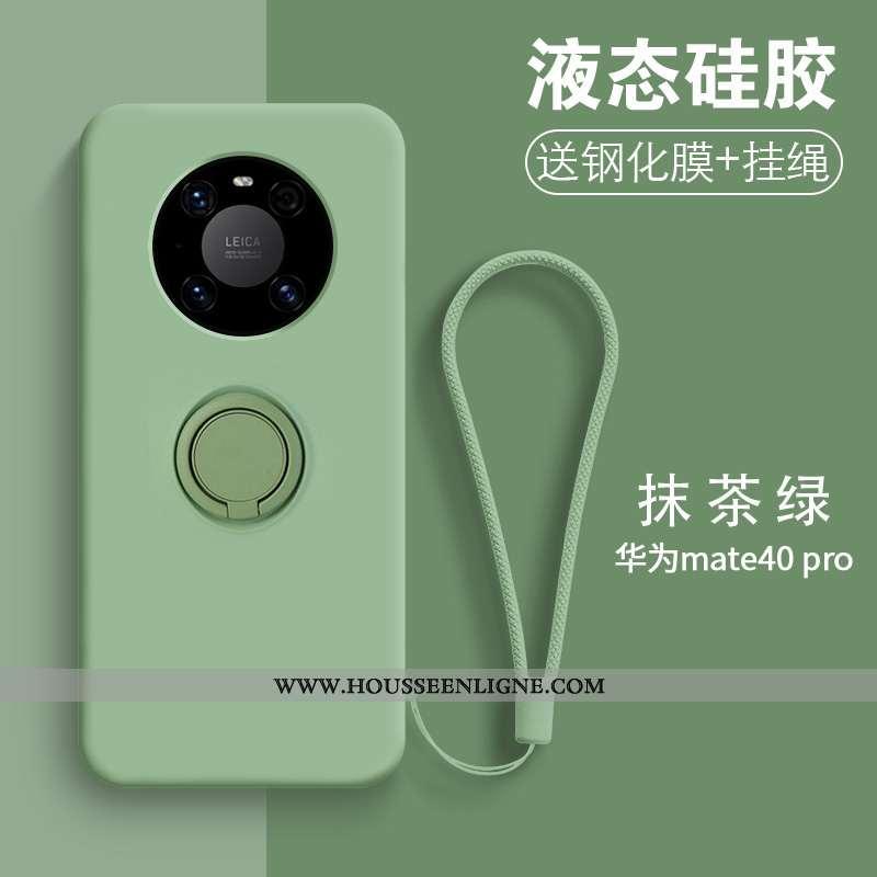 Coque Huawei Mate 40 Pro Tendance Fluide Doux Net Rouge Nouveau Incassable Étui Créatif Verte