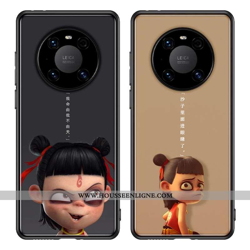 Coque Huawei Mate 40 Pro Tendance Silicone Kaki Téléphone Portable Verre Dessin Animé Khaki