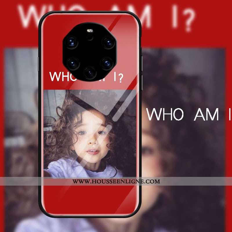 Coque Huawei Mate 40 Rs Créatif Protection Étui Verre Vent Rouge