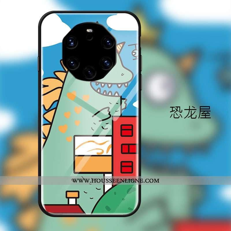 Coque Huawei Mate 40 Rs Protection Verre Charmant Frais Dessin Animé Tempérer Verte