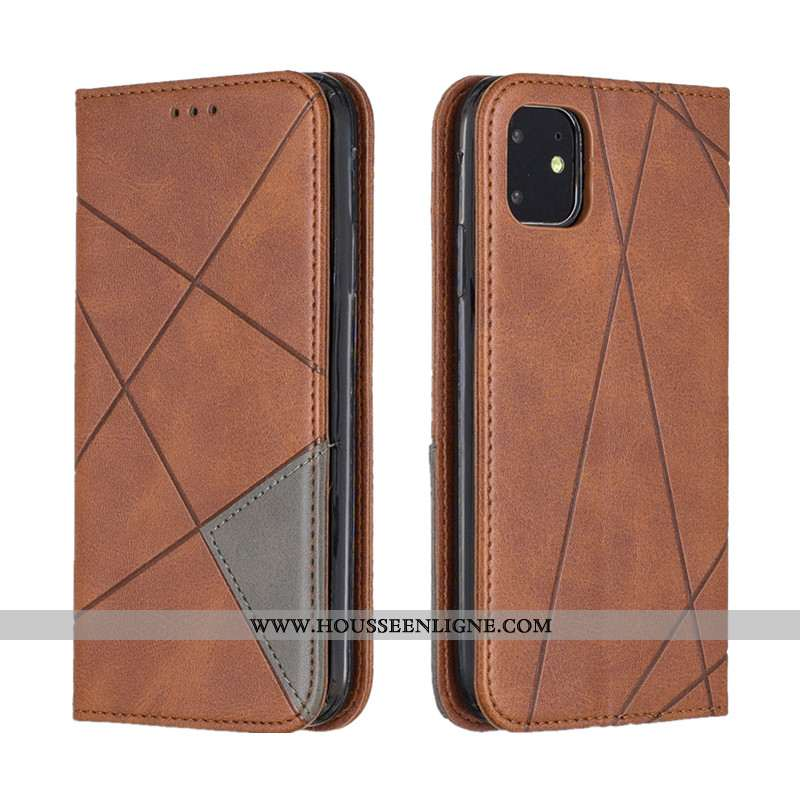 Coque iPhone 12 Mini Portefeuille Cuir Protection Housse Téléphone Portable Étui Tout Compris Khaki