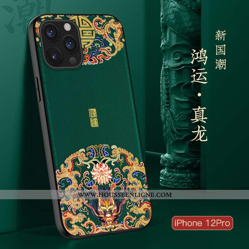 Coque iPhone 12 Pro Fluide Doux Silicone Ultra Incassable Légère Tendance Nouveau Verte