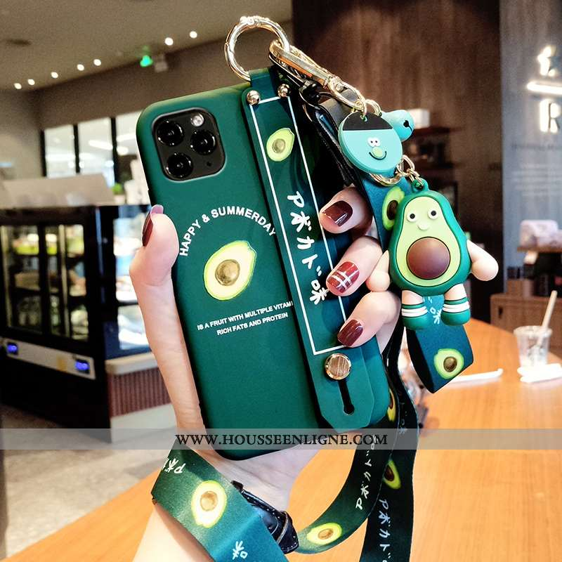 Coque iPhone 12 Pro Max Protection Personnalité Silicone Vert Luxe Tendance Fluide Doux Verte