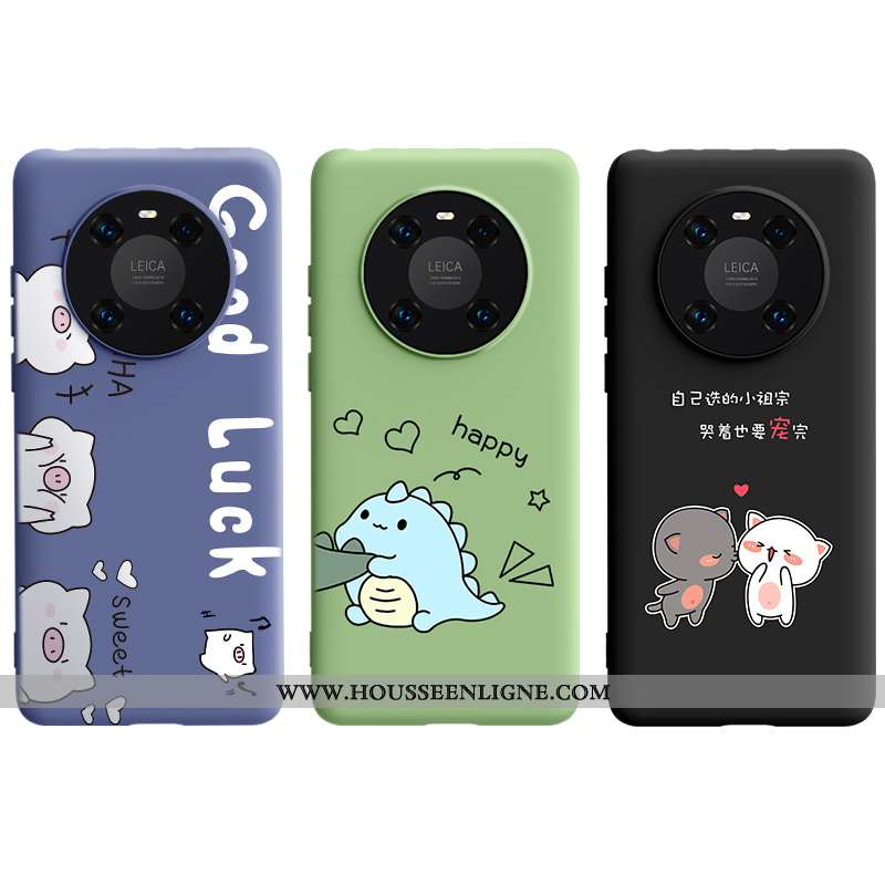Housse Huawei Mate 40 Dessin Animé Fluide Doux Incassable Téléphone Portable Tout Compris Noir Coque