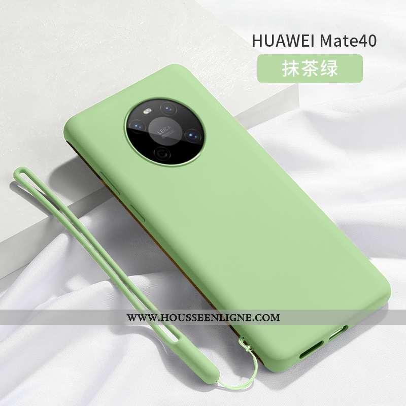 Housse Huawei Mate 40 Légère Silicone Protection Téléphone Portable Ultra Vert Simple Verte