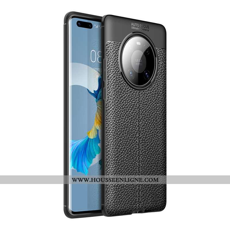 Housse Huawei Mate 40 Modèle Fleurie Personnalité Légère Téléphone Portable Incassable Nouveau Noir