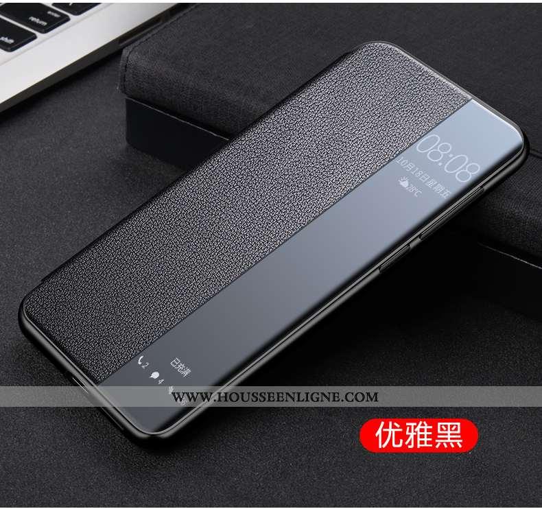 Housse Huawei Mate 40 Pro+ Cuir Véritable Cuir Tout Compris Étui Incassable Protection Noir