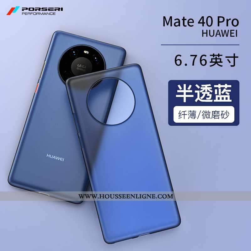 Housse Huawei Mate 40 Pro Personnalité Ultra Protection Légère Étui Délavé En Daim Simple Bleu