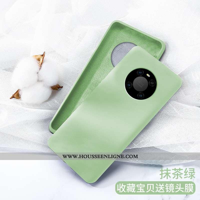Housse Huawei Mate 40 Pro Silicone Protection Coque Simple Nouveau Tout Compris Vert Verte