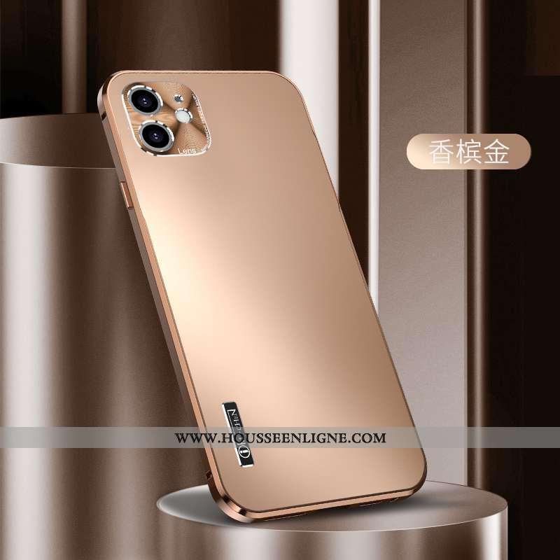 Housse iPhone 12 Mini Légère Protection Téléphone Portable Incassable Ultra Coque Métal Doré