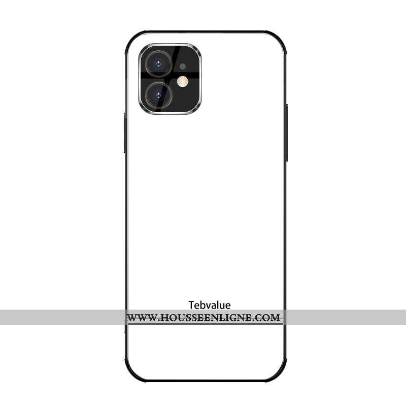 Housse iPhone 12 Mini Personnalité Créatif Mode Luxe Étui Nouveau Protection Blanche