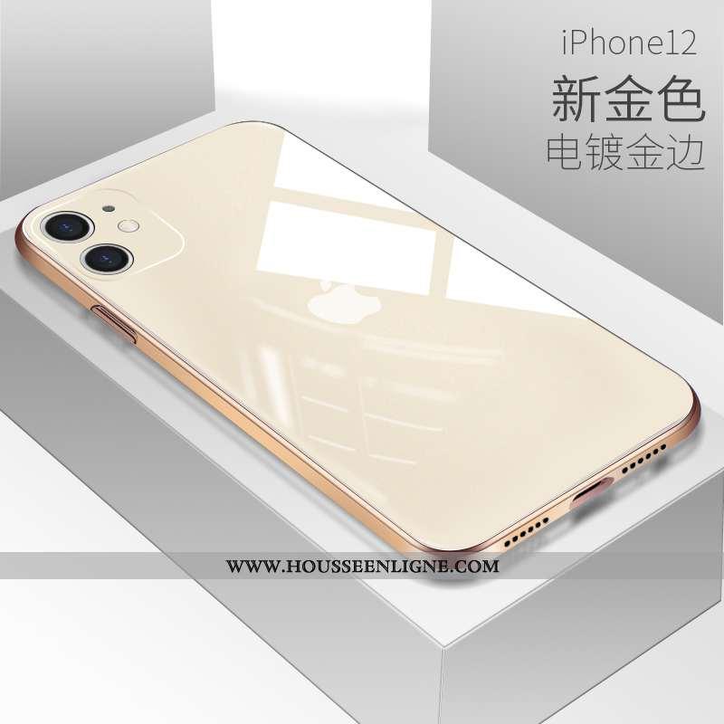 Housse iPhone 12 Protection Verre Coque Tout Compris Téléphone Portable Amoureux Incassable Blanche